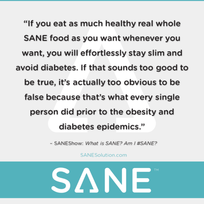 Starvation Is NOT Healthy. Stop counting calories & go #SANE w/me at http://SANESolution.com